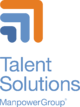 ManpowerGroup Talent Solutions Web Stacked Logo for Black Background