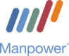 Manpower Web Stacked Logo for Dark Background